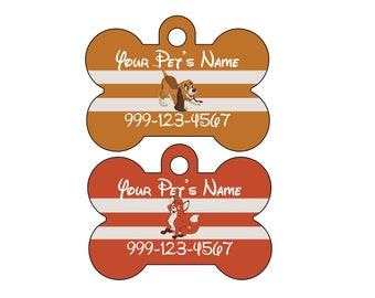 Disney Fox and the Hound Copper & Tod Pet Id Dog Tags Personalized w/ Your Pet's Name and Number