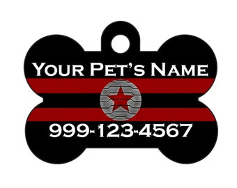 Winter Soldier Pet Id Dog Tag Personalized w/ Your Pet's Name & Number