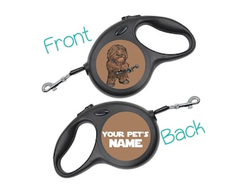 Disney Chewbacca Star Wars Retractable Dog Walking Leash Personalized for Your Pet