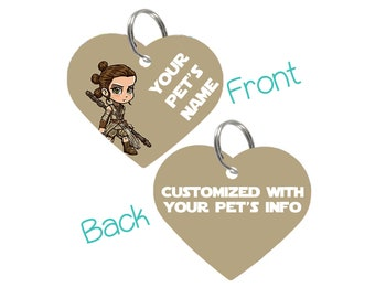 Disney Star Wars Rey Pet Id Tag for Dogs & Cats Personalized for Your Pet
