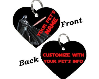 Disney Star Wars Darth Vader Double Sided Pet Id Tag for Dogs & Cats Personalized for Your Pet