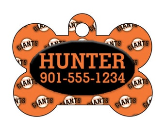 San Francisco Giants Personalized Dog Tag Pet Id Tag w/ Your Pet's Name and Number