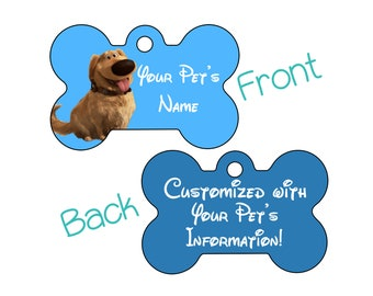 Dug | Disney Up | Double Sided Pet Id Dog Tag | Personalized for your Pet