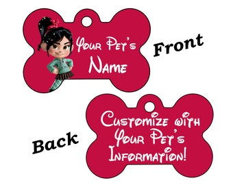 Disney Vanellope Von Schweetz Double Sided Pet Id Dog Tag Personalized for your Pet
