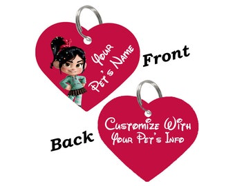 Disney Vanellope Von Schweetz Double Sided Pet Id Tag for Dogs & Cats Personalized for Your Pet