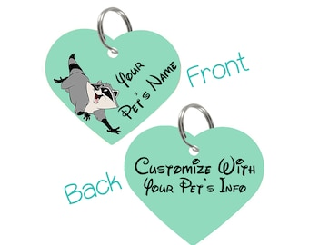 Disney Pocahontas Meeko Double Sided Pet Id Tag for Dogs & Cats Personalized for Your Pet