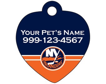 New York Islanders Pet Id Tag for Dogs & Cats | Personalized for Your Pet | Fits all Dogs and Cats!