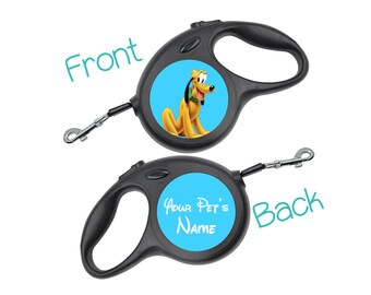 Disney Pluto Retractable Dog Walking Leash Personalized for Your Pet
