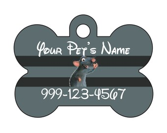 Disney Ratatouille Remy Pet Id Dog Tag Personalized w/ Your Pet's Name & Number