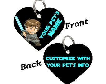 Disney Star Wars Luke Skywalker Double Sided Pet Id Tag for Dogs & Cats Personalized for Your Pet