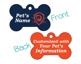 Virginia Cavaliers 2-Sided Pet Id Dog Tag | Officially Licensed | Personalized for Your Pet