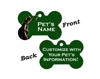 Disney Loki Double Sided Pet Id Dog Tag Personalized for your Pet