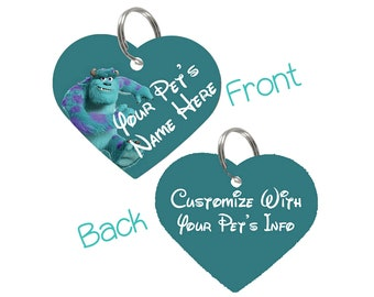 Disney Monster's Inc Sulley Double Sided Pet Id Tag for Dogs & Cats Personalized for Your Pet