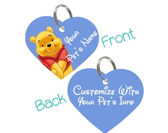 Disney Winnie the Pooh Pet Id Tag for Dogs & Cats Personalized for Your Pet