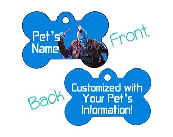 Yondu | Disney Guardians of the Galaxy Double Sided Pet Id Dog Tag | Personalized for Your Pet