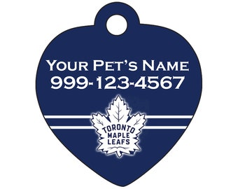 Toronto Maple Leafs Pet Id Tag for Dogs & Cats | Personalized for Your Pet | Fits all Dogs and Cats!