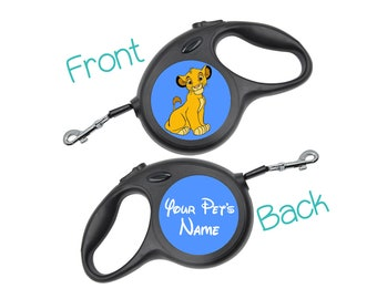 Disney Simba Retractable Dog Walking Leash Personalized for Your Pet