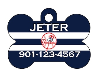 New York Yankees Pet Id Dog Tag Personalized w/ Your Pet's Name and Number