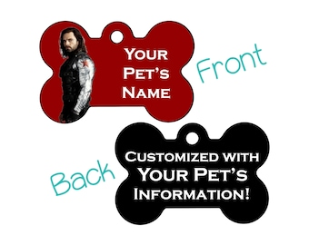 Winter Soldier | Disney Marvel Double Sided Pet Id Dog Tag | Personalized for your Pet