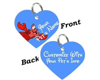 Disney Sebastian Double Sided Pet Id Tag for Dogs & Cats Personalized for Your Pet