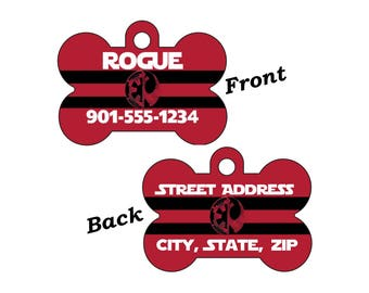 Disney Star Wars Rogue One Double Sided Pet Id Dog Tag Personalized for your Pet