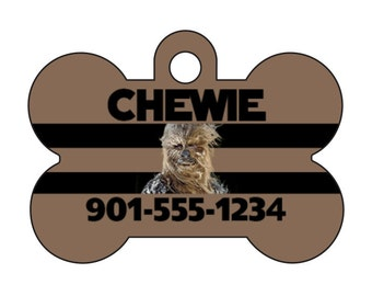 Disney Star Wars Chewbacca Pet Id Dog Tag Personalized w/ Your Pet's Name & Number