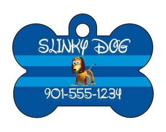 Disney Toy Story Slinky Pet Id Dog Tag Personalized w/ Your Pet's Name & Number