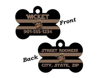 Disney Star Wars Ewok Custom Double Sided Pet Id Dog Tag Personalized for your Pet