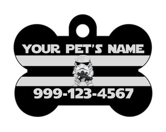 Disney Star Wars Stormtrooper Pet Id Dog Tag Personalized w/ Your Pet's Name & Number