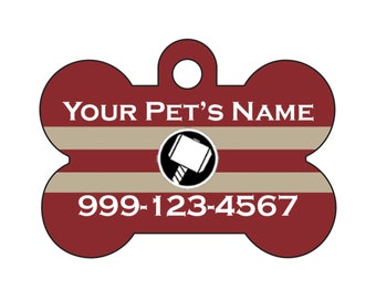 Thor Pet Id Dog Tag Personalized w/ Your Pets Name and Number