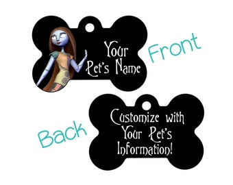 Sally Disney Nightmare Before Christmas Double Sided Custom Pet Id Dog Tag Personalized for your Pet