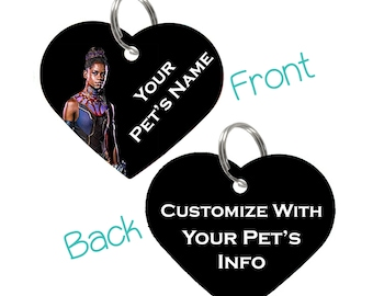 Disney Black Panther Shuri Double Sided Pet Id Tag for Dogs & Cats Personalized for Your Pet