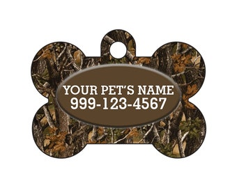 Fashionable Cute Realtree Camo Pet Id Dog Tag Personalized for Your Pet