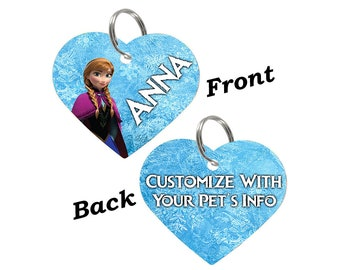 Disney Frozen Anna Double Sided Pet Id Tag for Dogs & Cats Personalized for Your Pet