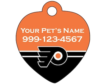 Philadelphia Flyers Pet Id Tag for Dogs & Cats | Personalized for Your Pet | Fits all Dogs and Cats!
