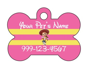 Disney Toy Story Jessie Pet Id Dog Tag Personalized w/ Your Pet's Name and Number