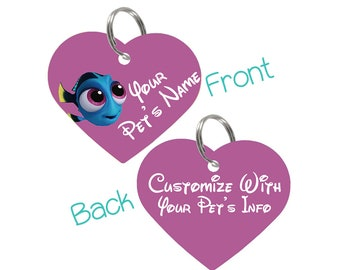 Disney Baby Dory Double Sided Pet Id Tag for Dogs & Cats Personalized for Your Pet
