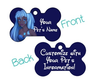 Disney Princess Kida Double Sided Pet Id Dog Tag Personalized for Your Pet