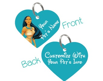 Disney Pocahontas Double Sided Pet Id Tag for Dogs & Cats Personalized for Your Pet