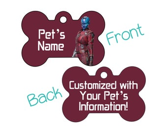 Nebula | Disney Guardians of the Galaxy Double Sided Pet Id Dog Tag | Personalized for Your Pet