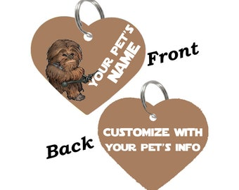 Disney Star Wars Chewbacca Double Sided Pet Id Tag for Dogs & Cats Personalized for Your Pet