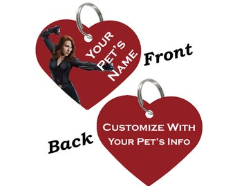 Black Widow Double Sided Pet Id Tag for Dogs & Cats Personalized for Your Pet
