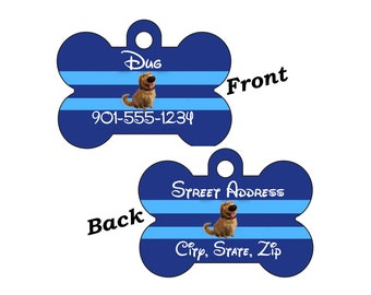 Disney Dug Double Sided Pet Id Dog Tag Personalized for your Pet