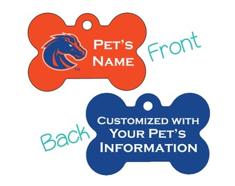 Boise State Broncos 2-Sided Pet Id Dog Tag | Officially Licensed | Personalized for Your Pet