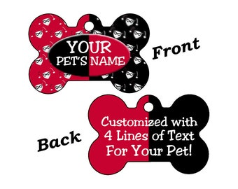 Harley Quinn Double Sided Pet Id Dog Tag Personalized w/ up to 4 Lines of Text