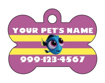 Disney Baby Dory Pet Id Dog Tag Personalized w/ Your Pet's Name & Number
