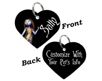 Disney Sally Double Sided Custom Pet Id Tag for Dogs & Cats Personalized for your Pet