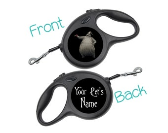 Oogie Boogie Nightmare Before Christmas Retractable Dog Walking Leash Personalized for Your Pet