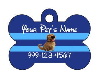 Disney Up Dug Custom Pet Id Dog Tag Personalized w/ Your Pet's Name & Number