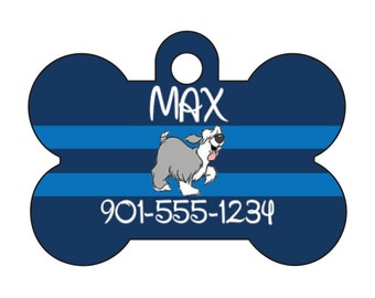 Disney The Little Mermaid Max Pet Id Dog Tag Personalized w/ Your Pet's Name & Number